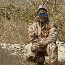 Outdoor Bionic Waterproof Camouflage Ghilli Suit Set Hunting Jacket+Bib pants