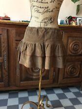 Jupe ROXY en velours marron Taille basse Taille 4/XL Neuve