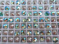 12 Peridot AB Foiled Swarovski Crystal Chaton Stone 1088 29ss 6mm