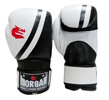 MORGAN PROFESSIONAL LEATHER BOXING GLOVES MITTS PUNCHING MMA UFC MUAY THAI GYM