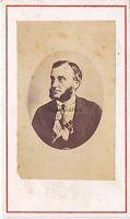 Ritratto una Personalità Uomo Politica? CDV Vintage Albumina Ca 1865