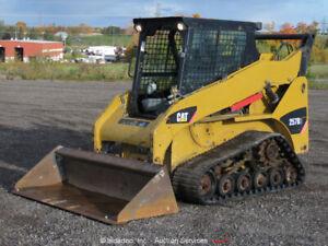 2011 Caterpillar 257B Skid Steer Track Loader Auxiliary Hyd Cab Heat bidadoo