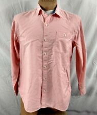 TOMMY BAHAMA CASUAL SHIRT 100% Cotton Pink Coral Mens L Island Soft Camp LS