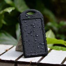 5000mAh Portable Waterproof Solar Charger Dual USB Power Bank
