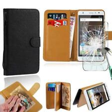 Leather Stand Wallet Case+Tempered Glass Screen Protector For Timmy Smartphones
