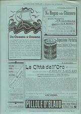 Stampa antica pubblicità CACAO VAN HOUTEN e altro 1898 Old antique print