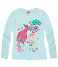 Girls Kids Official Licensed Disney Various Character Long Sleeve T Shirt Top Trolls #1 7 - 8 Years