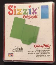 Sizzix Die Library Book Pocket Envelope DieCut Retired Scrapbook Card making HTF