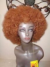 Afro Brown Halloween Costume Wig By Magic Touch. MAFRO #30.