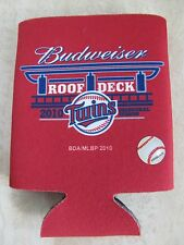 MINNESOTA TWINS Baseball Budweiser 2010 Inaugural Season Can Koozie Holder NEW!