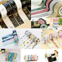 Washi Tape Set Masking Tape Scrapbook Decorative Paper Adhesive DIY Sticker New