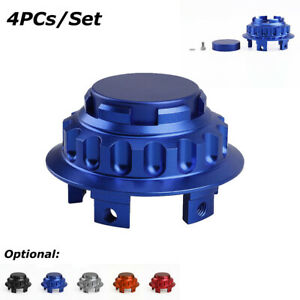 4pcs Fit for Mercedes-Benz Wheel Center Hub Caps Aluminium Rim Cover 75mm Blue