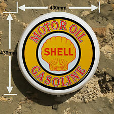 SHELL Gasoline SCATOLA LUMINOSA LED GIOCHI ROOM SIGN Uomo GROTTA GARAGE OFFICINA camera da letto