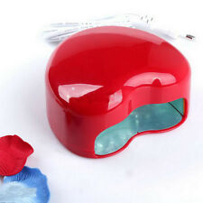 Auto Manicure LED UV Gel Lamp Nail Dryer Polish Curing Machine Red Heart Shape