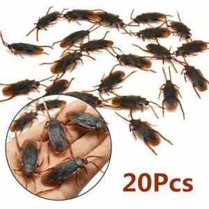 20 pcs Lifelike Plastic Roach Blackbeetle Cockroach Joke Prank Toy Gag Hallowen