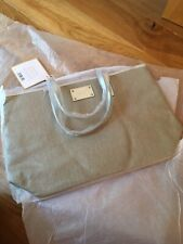Michael Kors Chic Tote Shopping Handbag Hand Bag Silver MK NEW