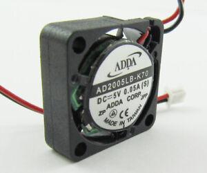 1pc ADDA Ball Bearing MINI DC Cooling fan AD2005LB-K70 5V 0.05A 20x20x6mm 2006