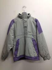 Trespass - Grey & Purple Funnel Neck Zipped Coat Size Uk Large (Q309)