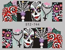 Day of The Dead Nail art decals WATER DECALS sugar skulls Nail art decals