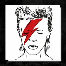 Illustrated DAVID BOWIE tribute BIRTHDAY or GREETINGS Card any occasion