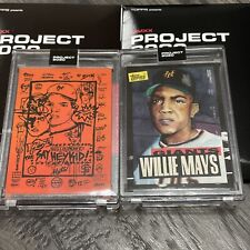 Topps Project 2020 * Willie Mays 2 LOT* #188 Gregory Siff & #101 Jacob Rochester