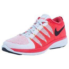 New Sz 11 Nike Men's Flyknit Lunar 2 Pure Platinum Crimson Red Black 620465-006