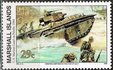 Marshall Islands WW2 1944 US Marine Land on Peleliu stamp MNH