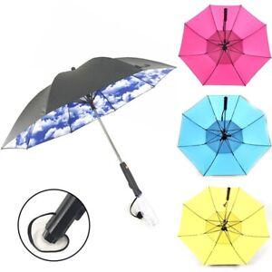 Dual Purpose Spray Fan Umbrella Long Handle Summer Cooling Umbrella Sunny Rainy