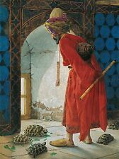 Osman Hamdi Bey tortue trainer OLD MASTER ART PAINTING imprimé Poster 2018oma