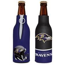 Baltimore Ravens 12oz Two Sided Bottle Cooler [New] Nfl Can Holder Foam Koozie