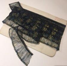 """Vintage Fabric Trim Floral Decoration 162"""" (411cm)"""