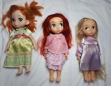Disney animator doll Rapunzel Anna Ariel Bundle