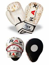 Focus Pads Curved With Boxing Gloves Hook & Jab Punch Bag Kick MMA 4 to16 oZ RAX