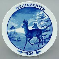 Rosenthal Weihnachtsteller 1924 'Rehe am Waldrand', Entwurf :  Theo Kärner