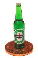 1:12 Scale Green Bottle With A Beer Label Tumdee Dolls House Drink Accessory