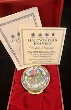 2006 Halcyon Days Annual Enamel Box Christmas Box