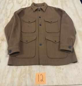 Vintage 1960's PENDLETON Mackinaw Jacket Wool Coat Size Large