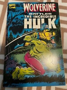 Wolverine Battles the Incredible Hulk #1 reprints 181 1989 NM Marvel Comics