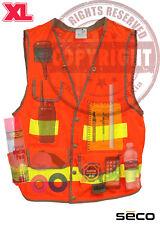 SECO 8069-54 XL SURVEYORS SAFETY VEST, CLASS 2,SURVEYING,TOPCON,SOKKIA,TRIMBLE