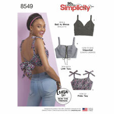 Simplicity SEWING PATTERN 8549 Misses Bra Tops/Bralettes XXS-XXL