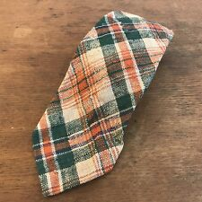 Vintage Robert Talbot Plaid Cotton Mens Neck Tie