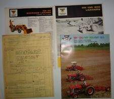 Massey Ferguson MF 135 150 165 Tractor Loader Backhoe Brochures & Purchase Order