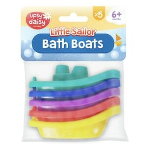 5x Baby Boats Bath Tub Time Kids Water Fun Play Game Toy Toddler Gift