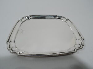 George V Tray - Antique Georgian Square - English Sterling Silver - 1914