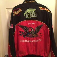 Mens 1915 Thompson Cigar Co Large Jacket Snap-Up Embroidery Patches Back Graphic