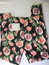 infinity raine leggings Women Stretch Floral Pink Roses One Size Tight Fit