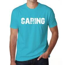CARING Tshirt Col Rond Homme T-shirt, Homme tshirt, aqua blue, cadeau ideal