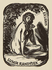 Erotisches Exlibris für Lumir Radysek.