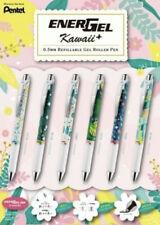 Limited Pentel Energel Pens Flowers Kawaii+ Botanical Blue Ink Needle Tip BLN75
