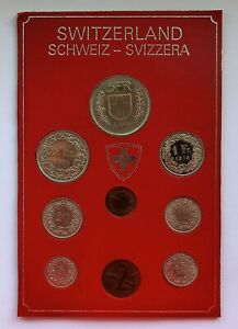 Switzerland 9 Coin Cased Set